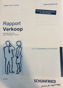 Rapport verkoop Vienna Test System Arbeidspsychologie_Schuhfried_Psychologoschtesten.nl